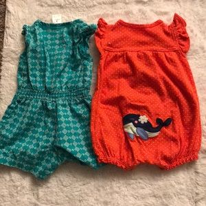 Carter's One Pieces - Carter's Infant Girl's Rompers